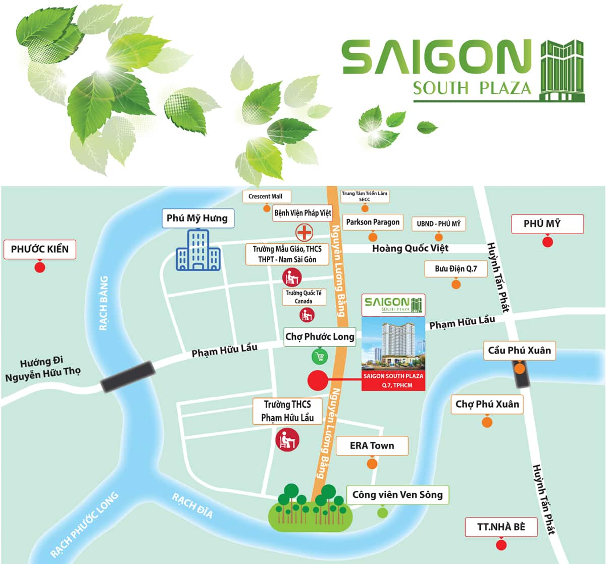 vị trí saigon south plaza