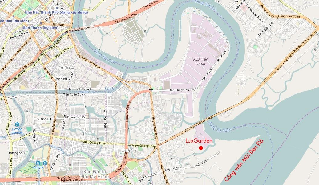 Vị Trí LuxGarden quận 7 Dự án căn hộ