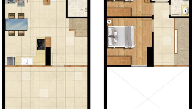 Thiết kế căn hộ thương mại (Shop house)