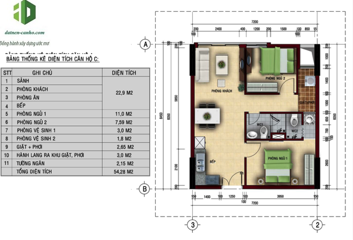 Mặt bằng căn hộ Felix Homes