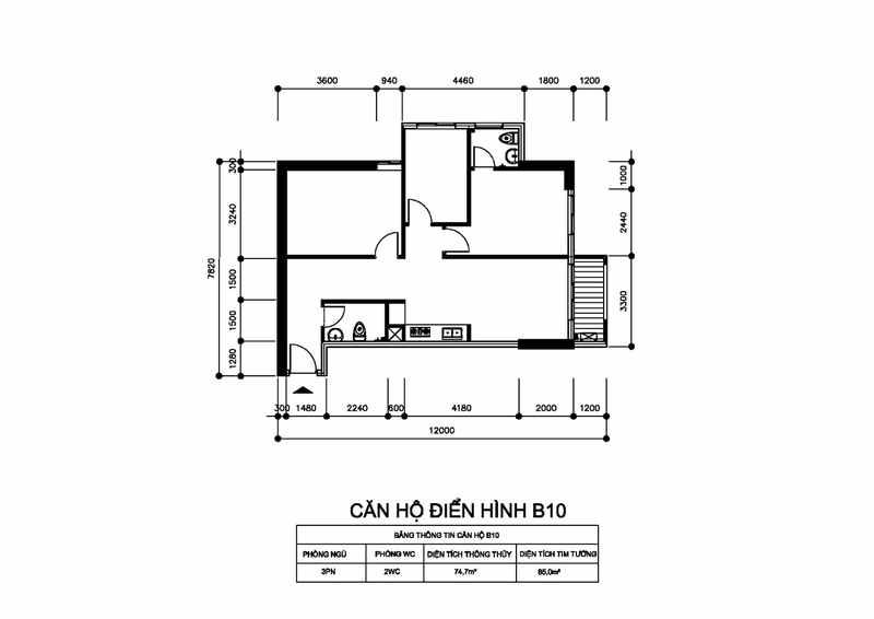 Thiết kế căn hộ Centum Wealth Quận 9