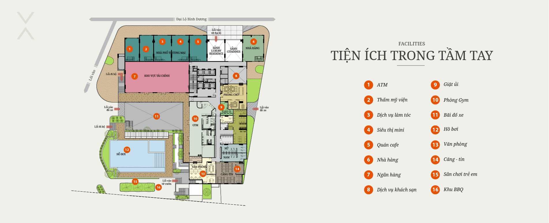 Tiện ích dự án căn hộ Luxury Residence Bình Dương