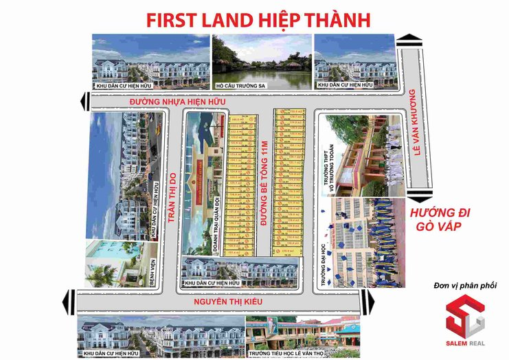 Mặt bằng dự án đất nền first land hiệp thành quận 12