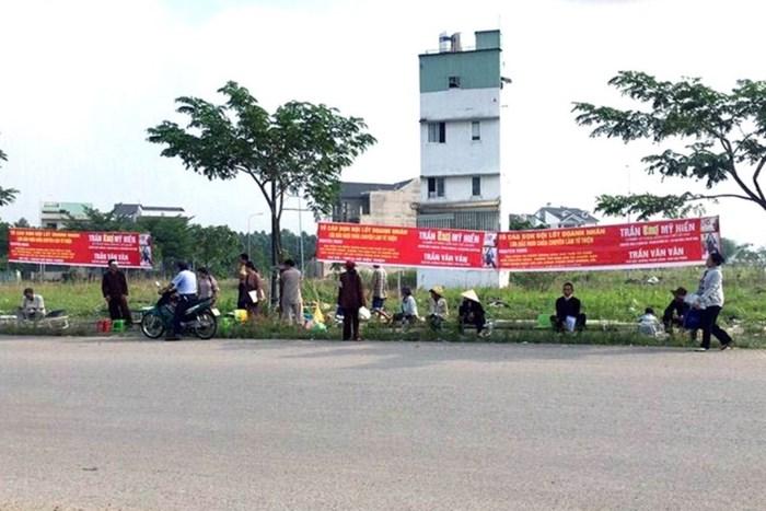 Quang cảnh tại lô đất mà ông Vân đã hợp đồng bán cho nhiều người