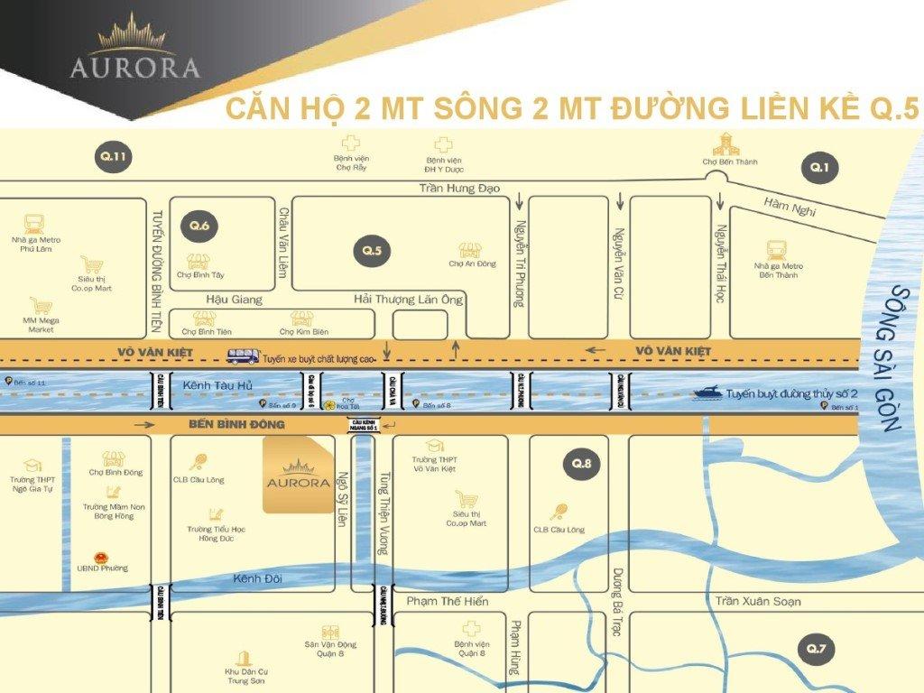 Vị trí căn hộ Aurora Residences Quận 8