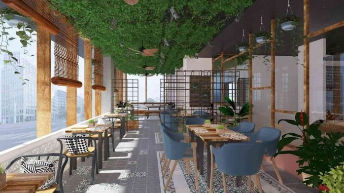 Tầng Rooftop – Café – Hội nghị - Office Four Square