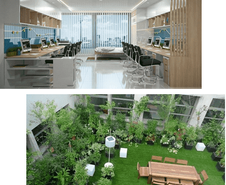 Tầng 6, 7, 8, 9, 10, 11 OfficeTel, garden