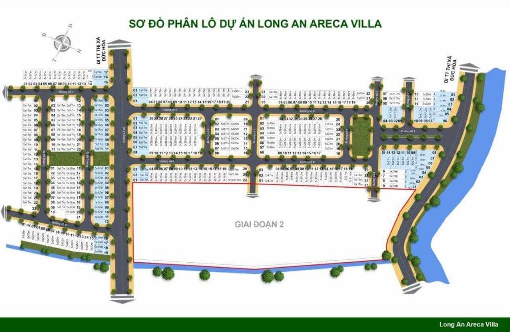 Mặt bằng dự án Areca Villa Long An