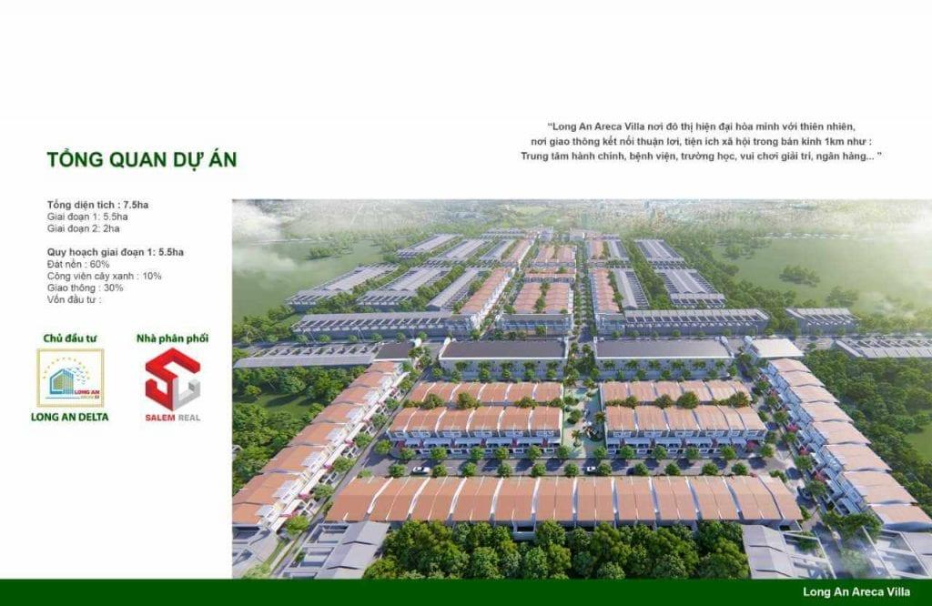 Tổng thể dự án đất nền Areca Villa Long An Đức Hòa