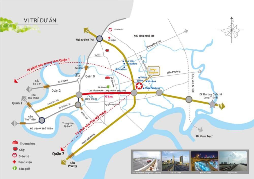 Vị trí căn hộ sapphire Khang Điền