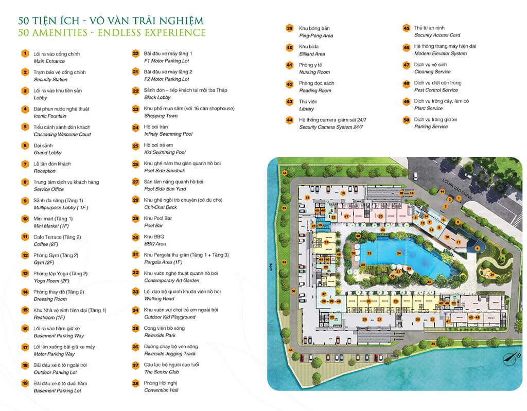 Tiện ích căn hộ Sappire Khang Điền