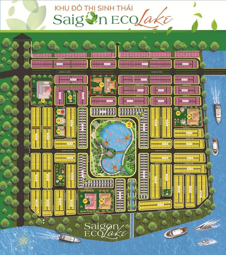Bản đồ phân lô Saigon Eco Lake