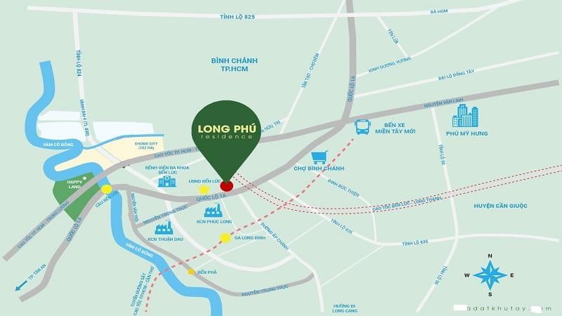 Vị trí dự án Long Phú Residence