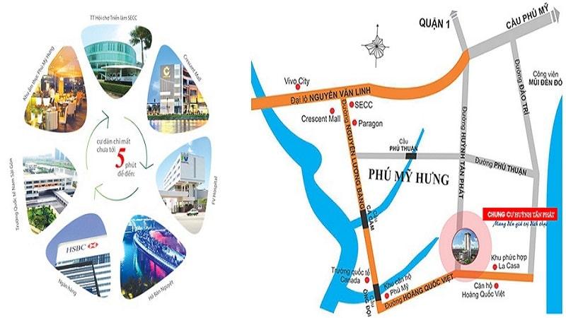 Vị trí chung cư Huỳnh Tấn Phát