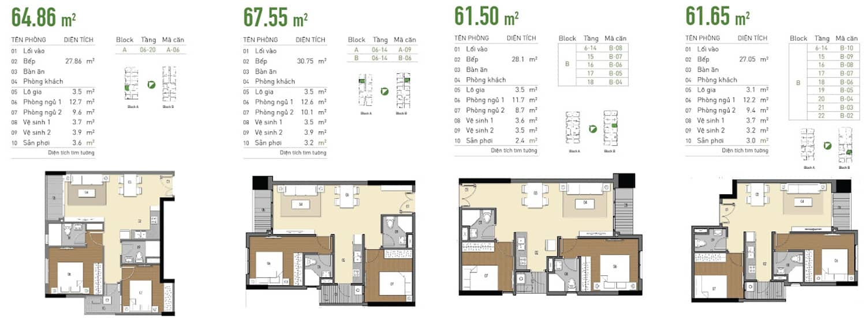 thiết kế căn hộ Lux Riverview
