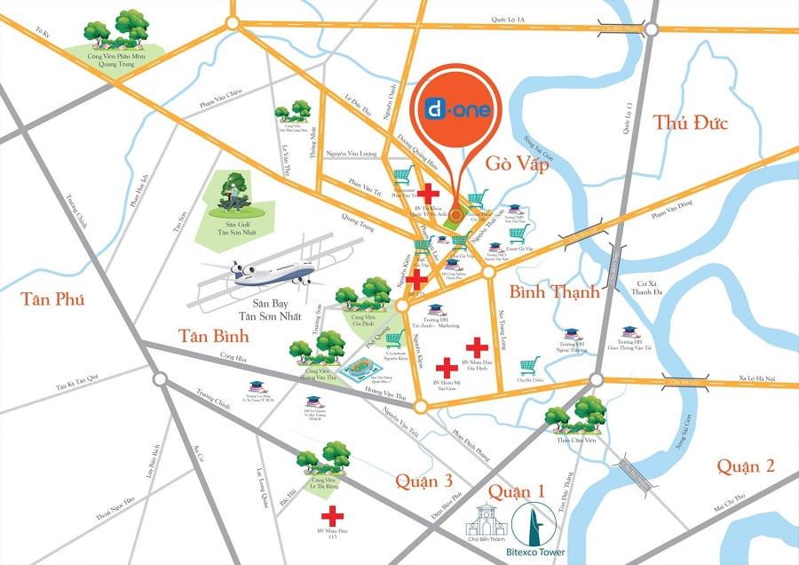 Vị trí dự án D-one Sài Gòn