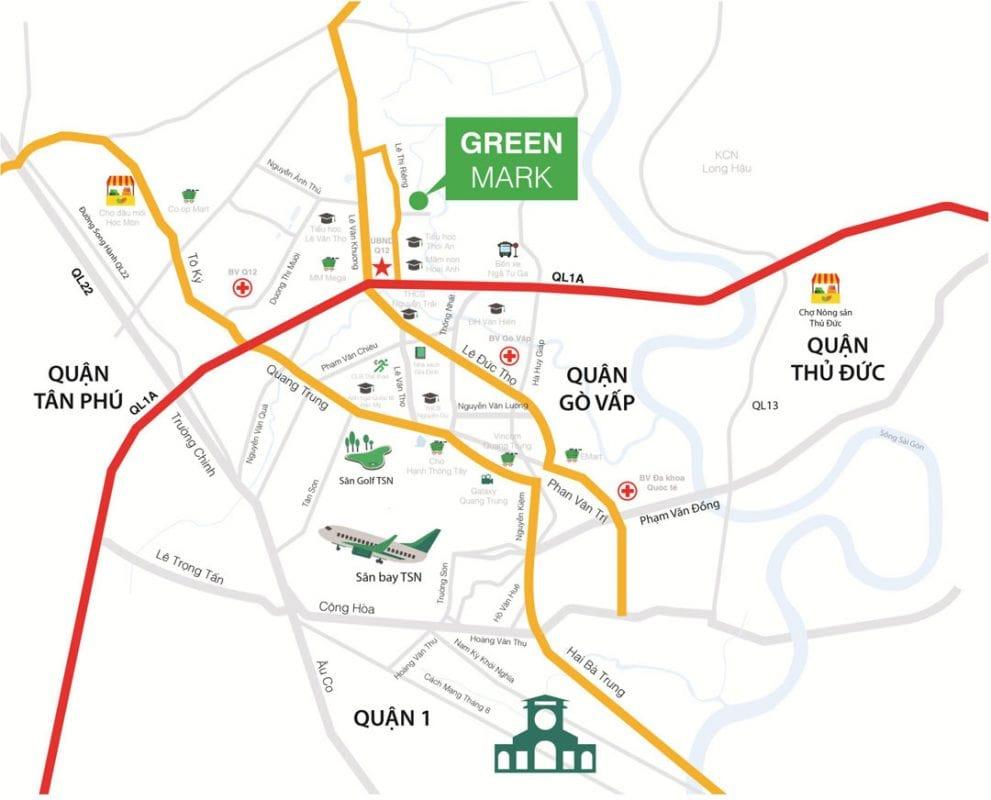 Vị trí căn hộ Green Mark
