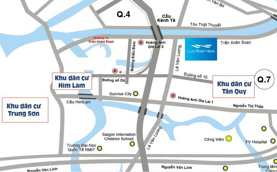 Vị trí căn hộ Lux Riverview