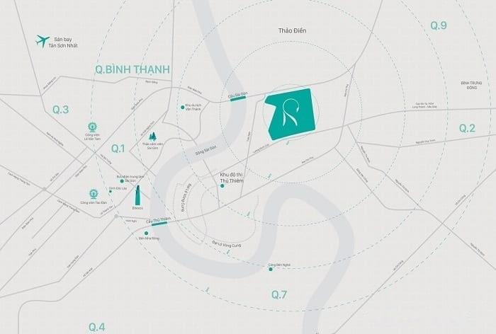vị trí căn hộ Raemian City