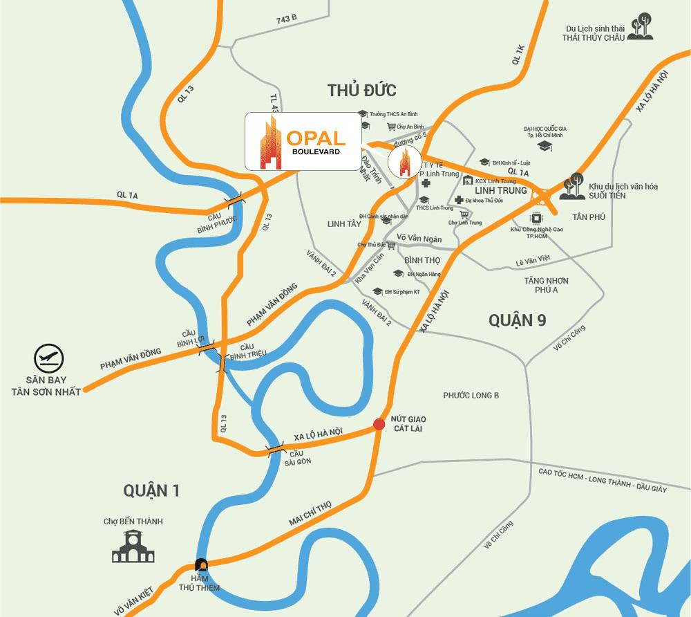 vị trí opal boulevard