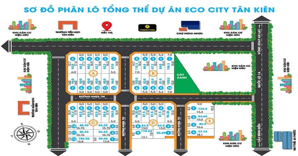 Mặt bằng Eco City Tân Kiên