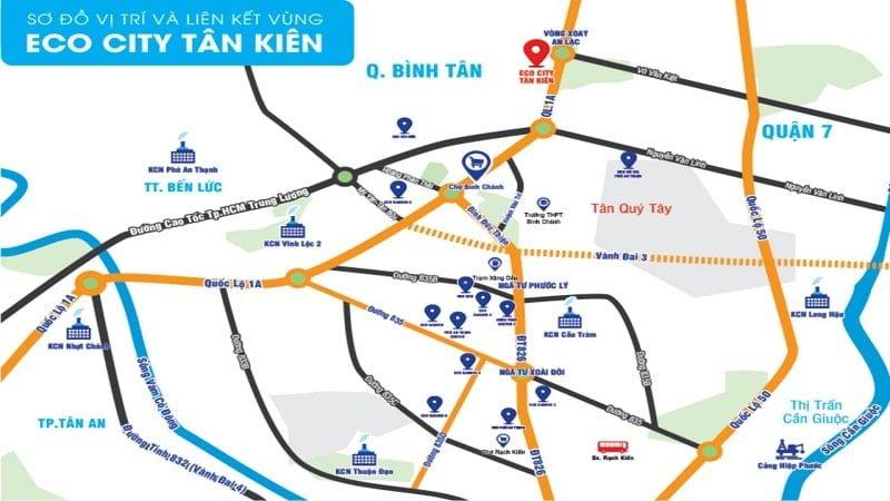 Vị trí Eco City Tân Kiên