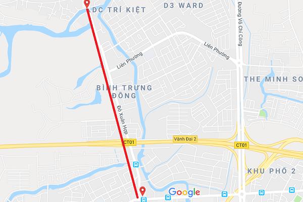 mở rộng đường Đỗ Xuân Hợp lên 30m