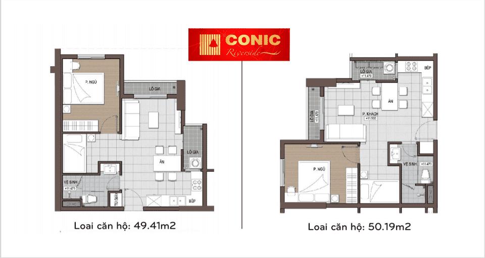 Thiết kế căn hộ Conic riverside
