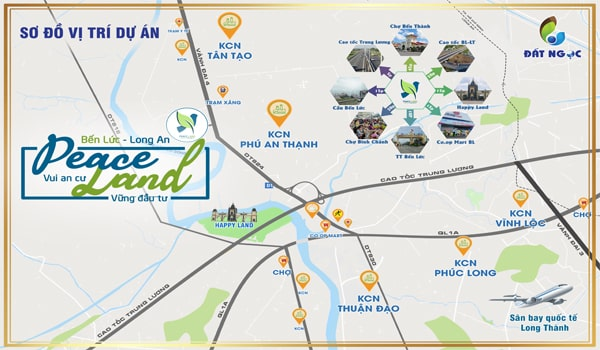 Vị trí dự án Peace Land