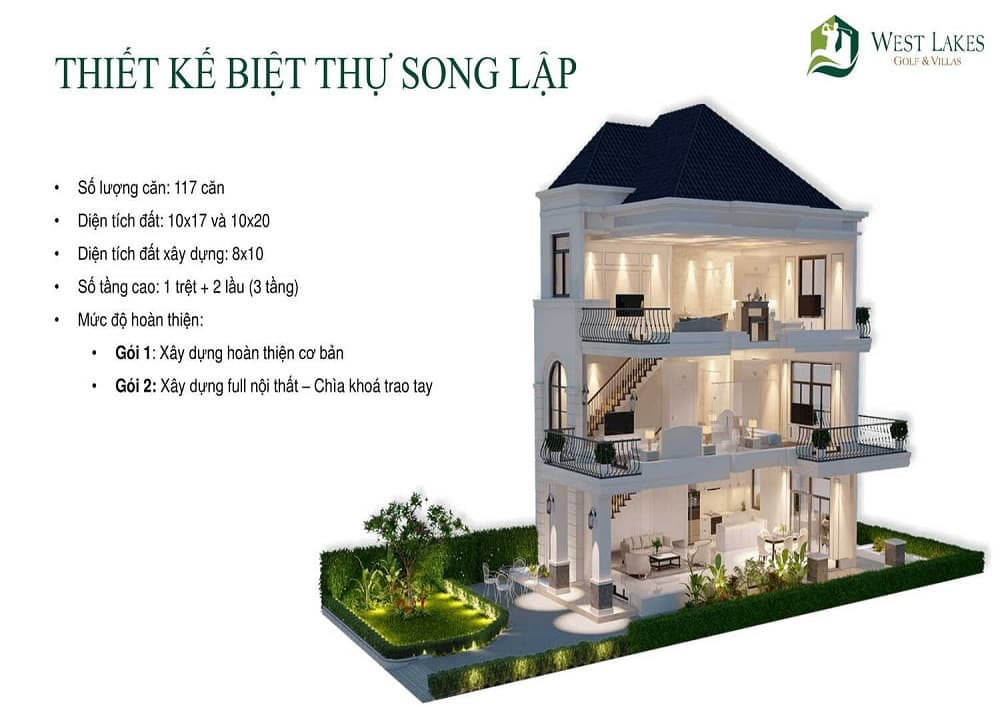 Thiet ke West Lakes Golf Villas