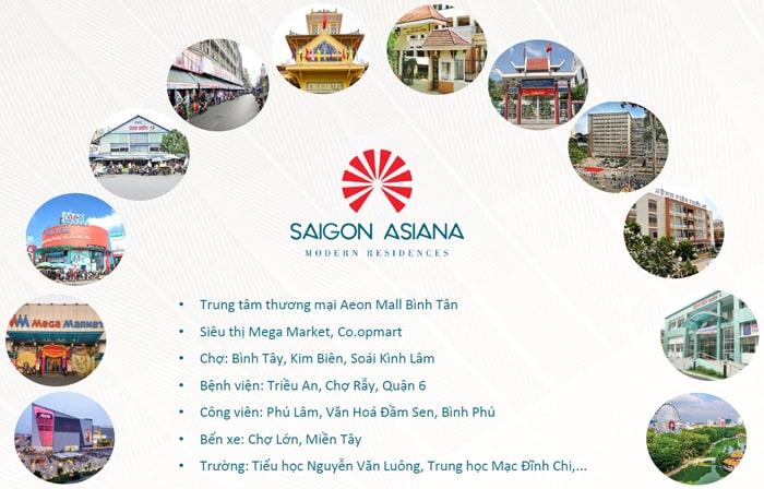 Tiện ích ngoại khu Saigon Asiana