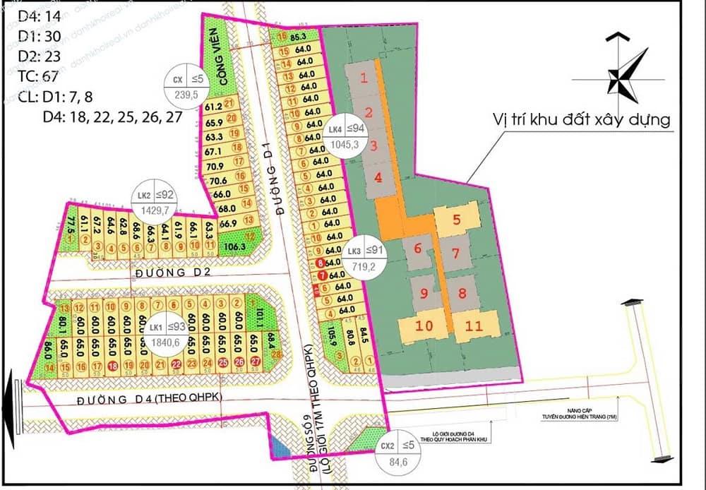 Mặt bằng dự án Alva Plaza