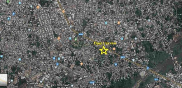Vị trí căn hộ Opal Cityview
