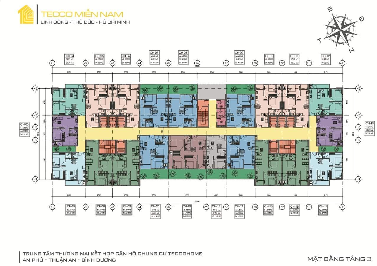 MB tầng 3 Tecco Home An Phú