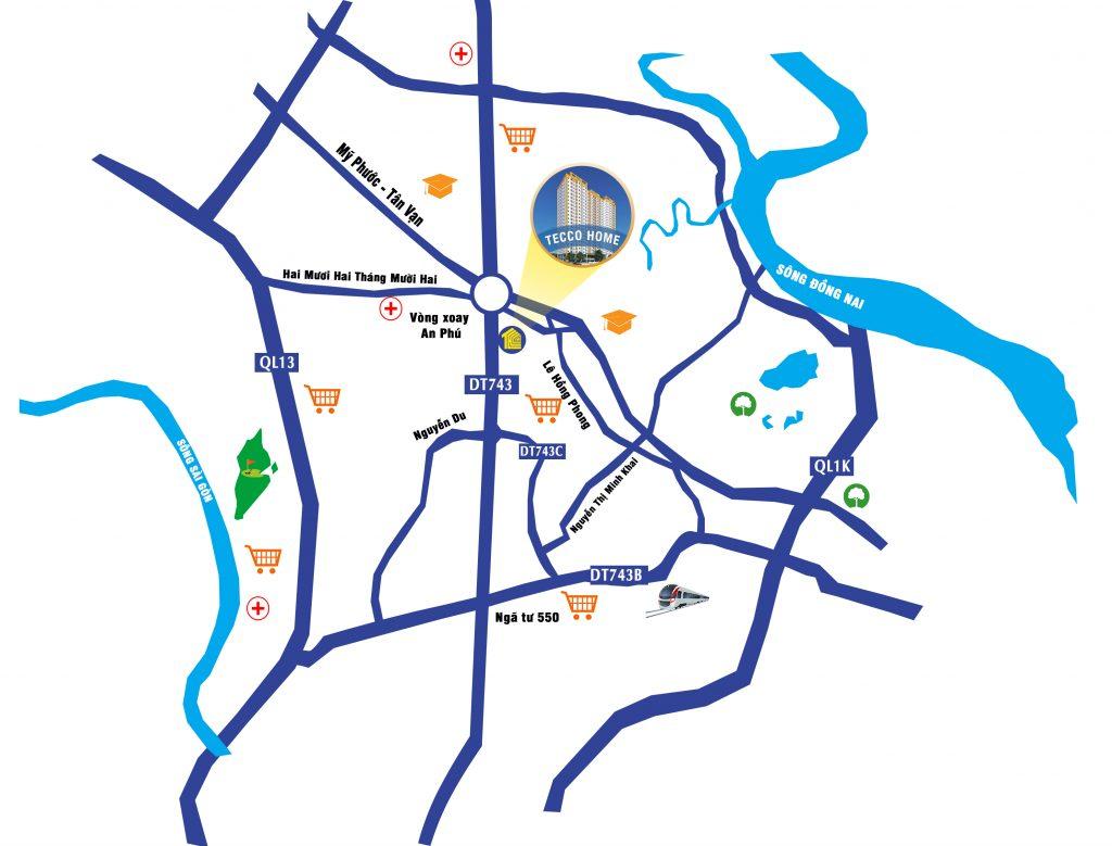 Vị trí căn hộ Tecco Home An Phú
