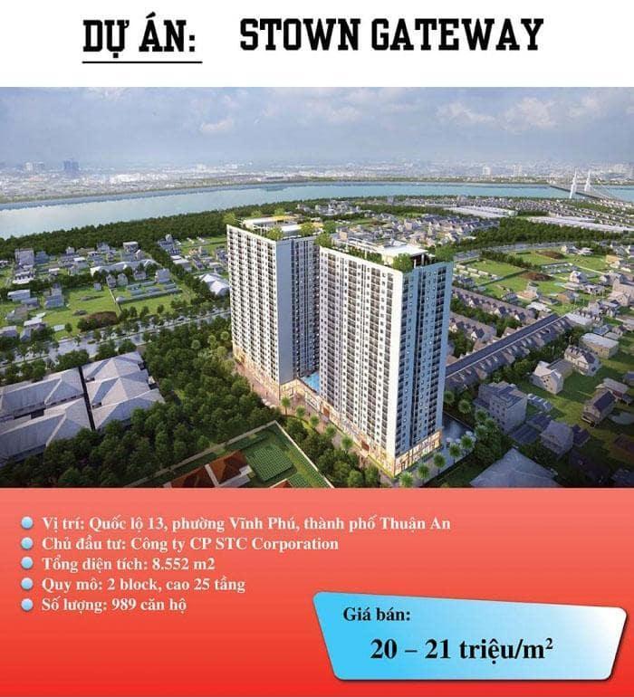 Dự án căn hộ có mức giá thấp ở bình dương
