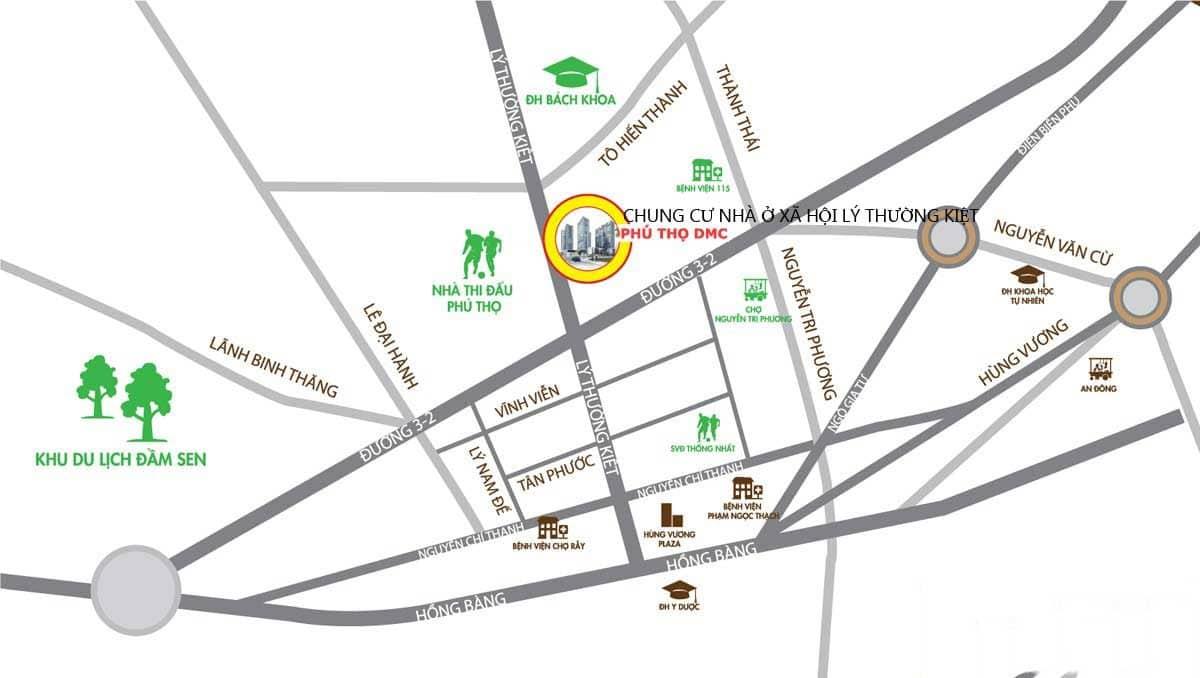 Vị trí căn hộ Phú Thọ DMC