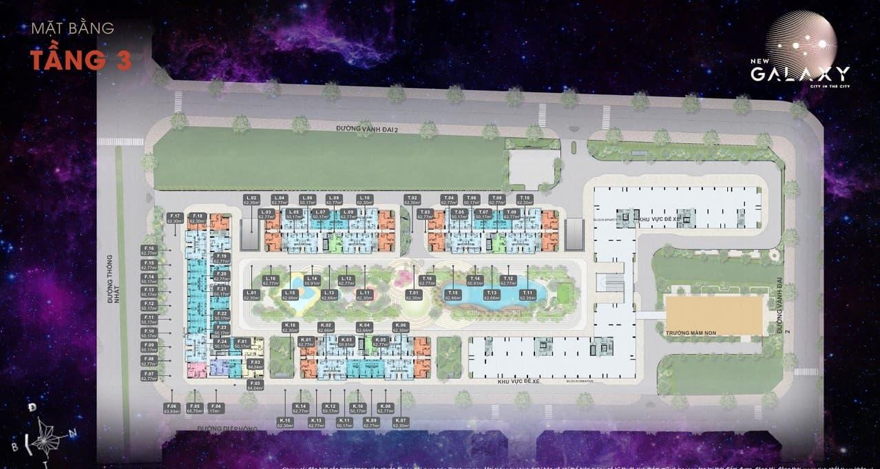 Mặt bằng căn hộ New Galaxy 6