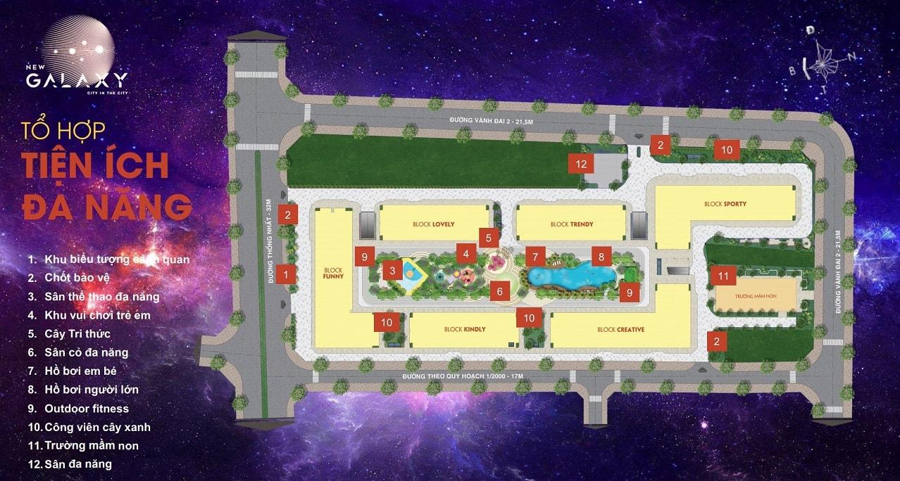 Mặt bằng căn hộ New Galaxy 7