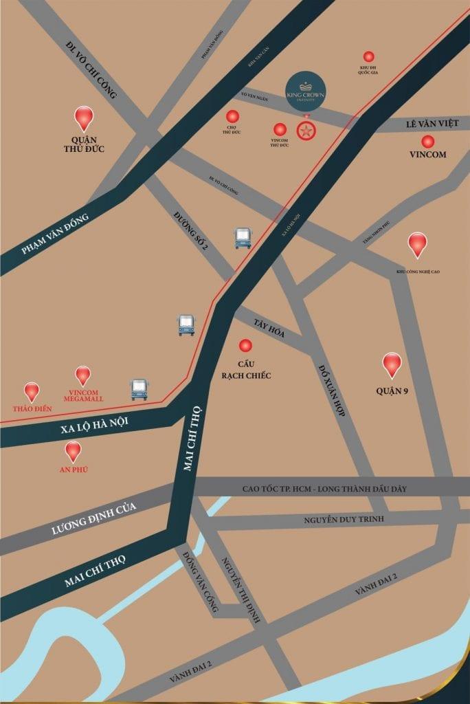 Vị trí căn hộ Võ Văn Ngân