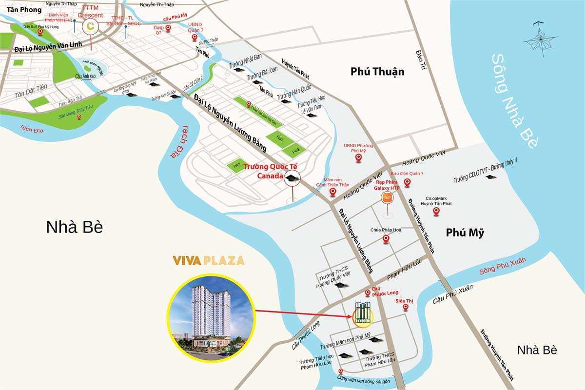 Vị trí Viva Plaza